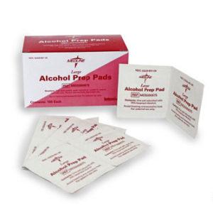 ALCOHOL PREP PADS LARGE ESTÉRIL